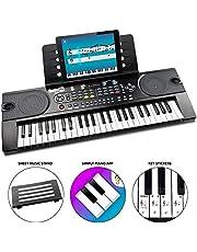 RockJam Portable 49 Key Keyboard Piano con supporto per spartiti, alimentatore, adesivi per note chiave e applicazione Simply Piano (RJ549)
