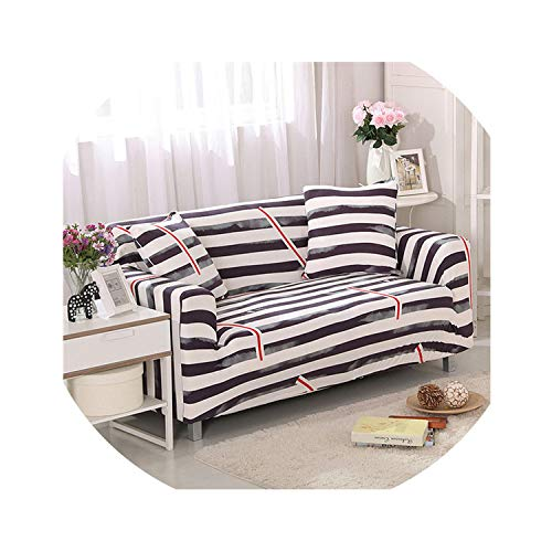 Stretch Sofa Cover Sofa Slipcovers Sectional Couch Cover Sofa Set Sofa Covers for Living Room housse canape 1/2/3/4 Seater,Color 2,Three Seat Sofa ()