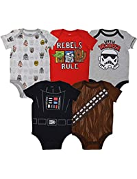 Baby Boys 5 Pack Bodysuits