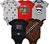 Star Wars Baby Boys 5 Pack Bodysuits Darth Vader