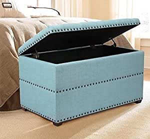 Amazon.com: End of Bed Storage Bench-Bedroom Benches at ...