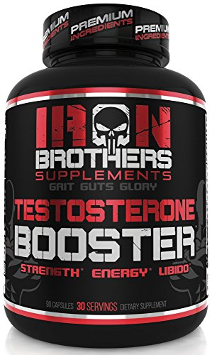 Testosterone Booster for Men Supplement Natural Energy, Strength & Stamina - Lean Muscle Growth - Promotes Fat Loss Increase Male Performance & Vitality Build Mass 90 Veggie Caps Pills