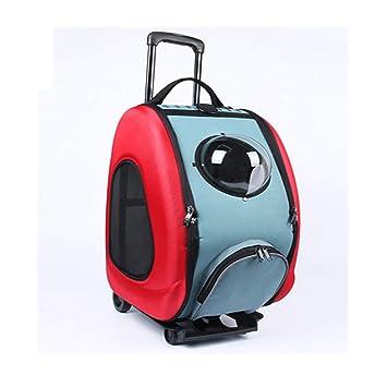 XDYFF Transportin Carrito Perro Mochila Carrito Bolso Multifuncional para Mascotas de la polea de la Caja