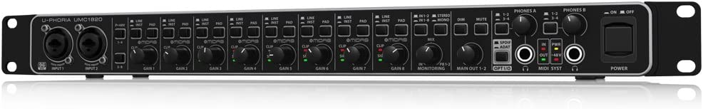 BEHRINGER U-PHORIA UMC1820, Black, 8-Channel