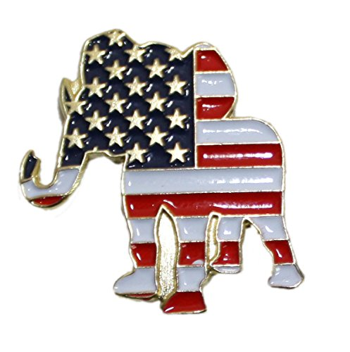 Ted and Jack - Show Your Pride in Your Nation Metal and Ceramic Political Lapel Pin - Republican
