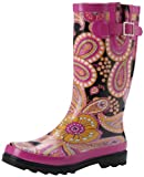 Western Chief Women's Floral Paisley Boot,Pink,9 M US