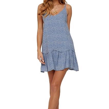Amazon.com: FULA-bao - Vestido de verano para mujer, con ...