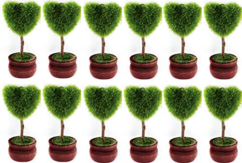 Charmed Table Numbers, Place Card Holder for Wedding Party and Birthday (12 pcs) (Topiary Wedding)