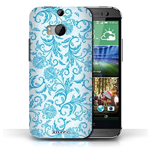 Etui / Coque pour HTC One/1 M8 / Fleurs Bleues conception / Collection de Fleurs