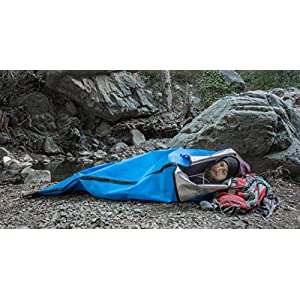 SE EB5985-SB1-BL Survivor Series ShelterMe Sleeping Bag/Ground Cover/Shelter