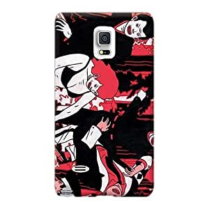 Shock Absorbent Hard Cell-phone Cases For Samsung Galaxy Note 4 With Custom High-definition X-japan Band Pattern