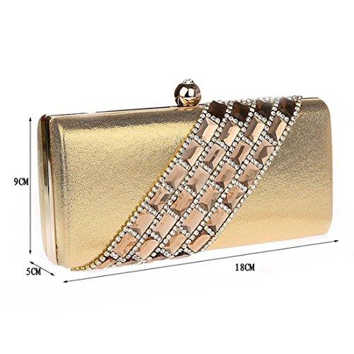 HT evening handbags for women - Cartera de mano para mujer plata
