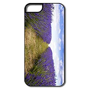 Case For Iphone 5/5S Cover, Lavender Field White/black Cases Case For Iphone 5/5S Cover