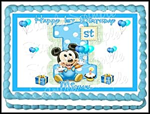 mickey mouse sheet cake baby mickey 1st birthday edible frosting sheet 5887