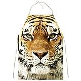 Wild Exotic Tiger Big Cat Full Print Apron