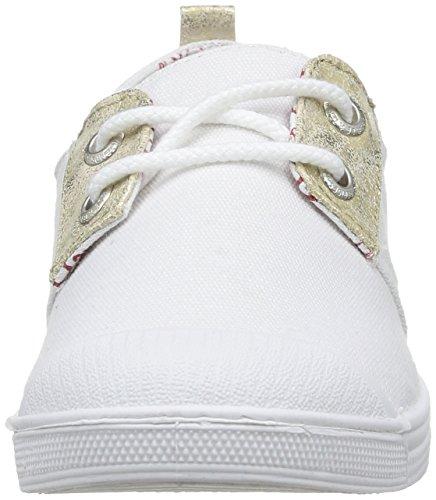 Basic Blanc Le Mujer 02 Canvas fancy Temps Fancy Zapatillas Cerises Des Deporte gold White De Blanco gqwt7AqF