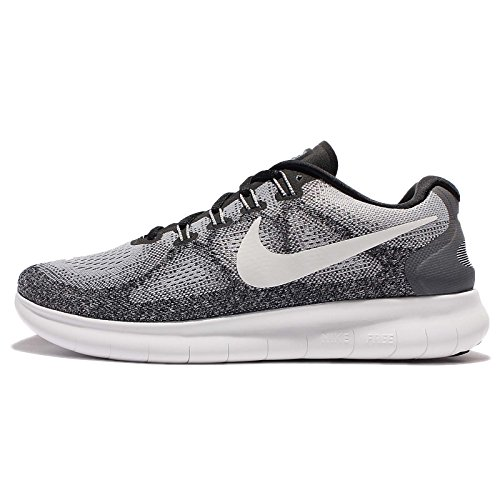 Nike Mens Free RN 2017 Wolf Grey / Off White Size -