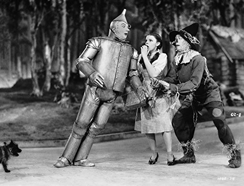 Black Wizard Of Oz (Wizard Of Oz Tin Man Leaning on Dorothy in Black and White Photo Print (10 x)