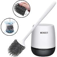 MEKEET Cepillo y soporte para inodoro de silicona