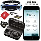 Jabra Elite Sport 4.5 Hour True Wireless Waterproof Fitness & Running Earbuds with Heart Rate and Activity Tracker - Running Belt, Water Bottles, Advanced Wireless Connectivity and Charging Case