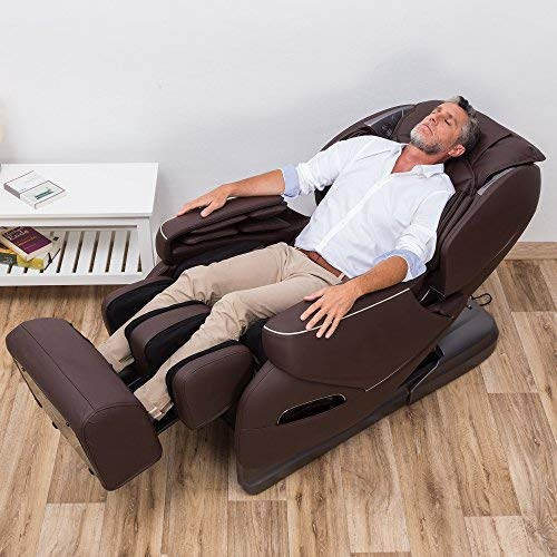 BLACKFRIDAY -300€ l NIRVANA® Sillón de masaje 3D - Marrón ...