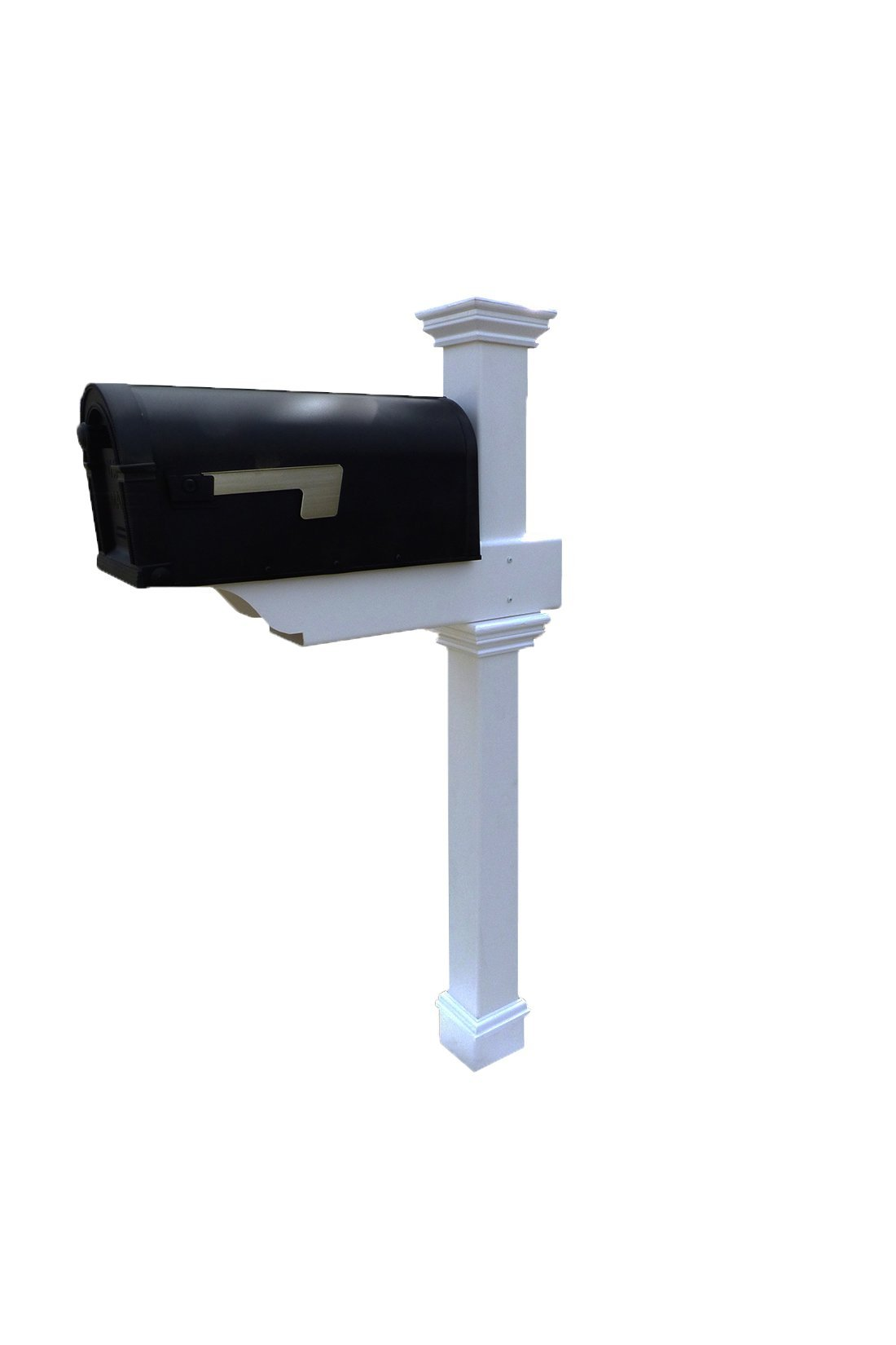 Zippity Outdoor Products Classica Mailbox Post with No-Dig Steel Pipe Anchor Kit, White