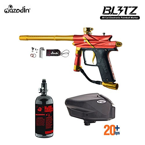 Autococker Gun - MAddog Azodin Blitz 3 HPA Paintball Gun Package - Orange