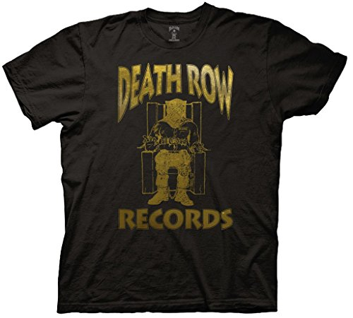 Death Row Records Foil Logo Black T-shirt (Adult - Row Store