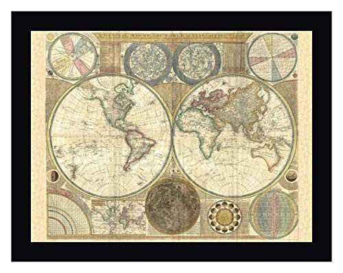 (Double Hemisphere map of The World 1794 by Samuel Dunn - 21