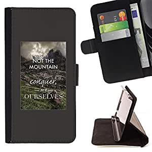 Jordan Colourful Shop - Conquer Yourself Inspiring Smart Quote For HTC One M9 - Leather Case Absorci???¡¯???€????€?????????
