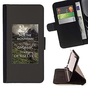 - Queen Pattern FOR Sony Xperia m55w Z3 Compact Mini /La identificaci????n del cr????dito ranuras para tarjetas tir????n de la caja Cartera de cuero cubie - conquer yourself inspi
