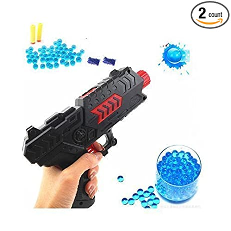 2 in 1 Water Bead Gun Ball Bullet Blaster Foam Dart OG-13 Action Pistol