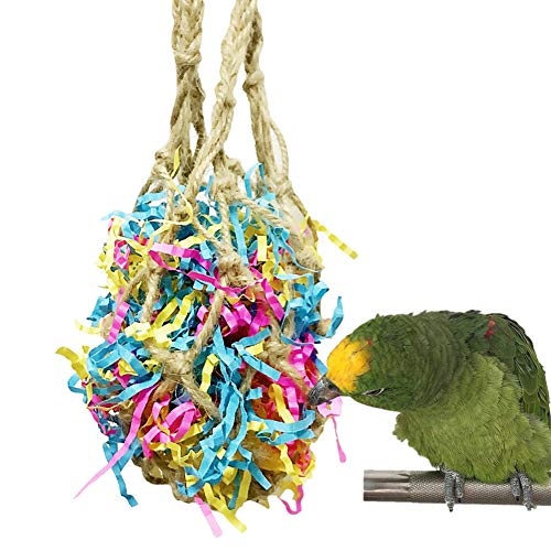 - Patgoal Medium Bird Parrot Chewing Toys - Multicolored Cotton Rope Paper Tearing Toys for Birds Like Amazon,African Grey and Cockatoos