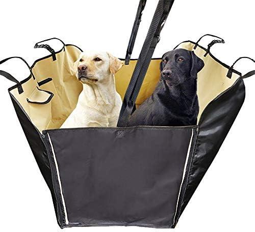 ペットシートカバー 防水犬のカーシートカバー付きキャリーバッグノンスリップペットシートプロテクター (Color : Beige, Size : 150x35x130cm)