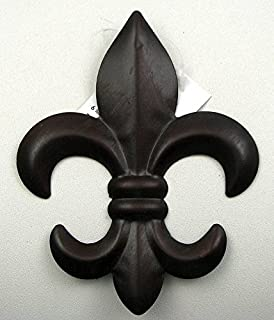 Beautiful New Set Of 2 Tin FLEUR DE LIS Wall Plaque Hanging Home Decor