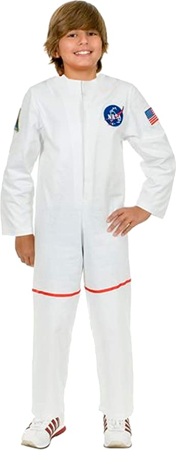 White Astronaut Suit Costume - Large