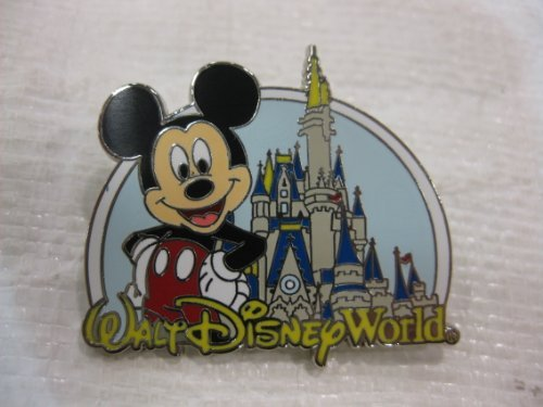 (Disney Pin Where Dreams Come True Mickey with Castle 2007)