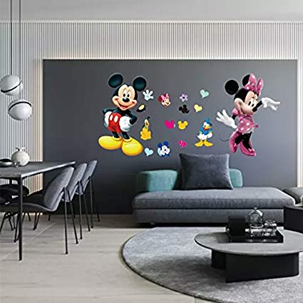 kibi stickers muraux mickey stickers muraux minnie et mickey stickers muraux enfants mickey stickers muraux chambre bebe autocollants mickey mouse