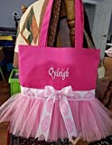 Dance Tutu Tote Bag Embroidered With Name