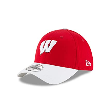 New Era Wisconsin Badgers Clean Hit 39THIRTY Flex Fit Hat Cap Small Medium 2dbe46e3943