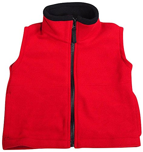 Kaynee - Big Boys Polar Fleece Vests, Red 38355-18/20