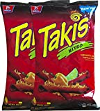 Barcel Takis Nitro Habanero & Lime Tortilla Chips Snack Care Package for College, Military, Sports 9.9 oz bag (2)