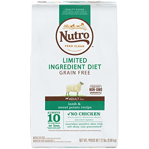(NUTRO Limited Ingredient Diet Natural Adult Dry Dog Food Lamb & Sweet Potato, 22 lb. Bag)