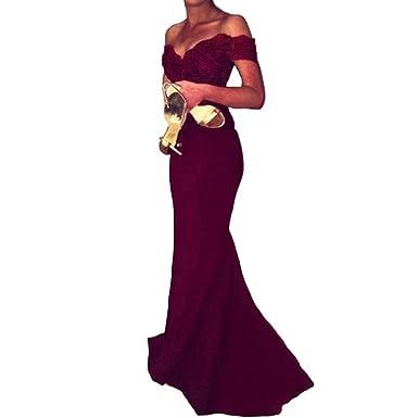 Veiai Women\'s Prom Dresses Long Spandex Bridesmaid Dress Off The ...