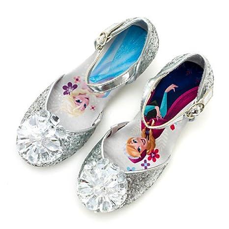 new product 7e977 f53a8 Original Authentic Disney Frozen -- Il Regno di Ghiaccio - Elsa, Anna  Scarpe bimbi con brillantini argentati - ragazza Taglia EU 31 --- UK 12