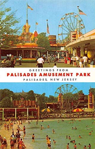 Palisades New Jersey Greetings From Palisades Amusement Park vintage pc BB181