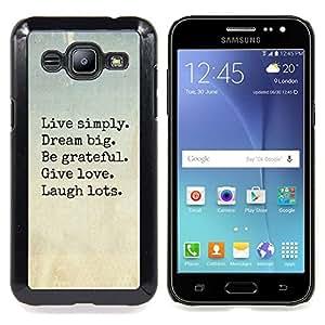 - live dream love laugh motivational - - Modelo de la piel protectora de la cubierta del caso FOR Samsung Galaxy J2 RetroCandy