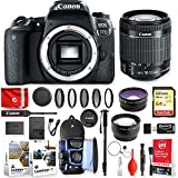 Canon EOS 77D 24.2MP 1080P DSLR Camera w/EF-S 18-55mm f/4-5.6 is STM + Sandisk 32GB Memory + Traveling Accessory Essentials Bundle (20pc)