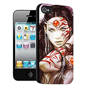 QYF Magnificent Woman Pattern 3D Effect Case for iPhone5