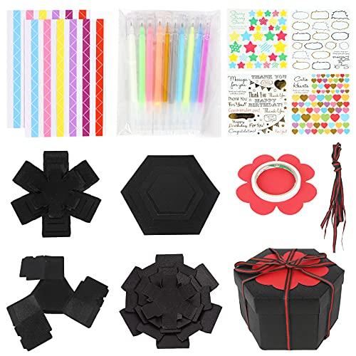 Koogel Explosion Box Set, Glitter Album Gift Box Creative Album Surprise Album Sticker Box for Marriage Proposals Making Surprises Birthday